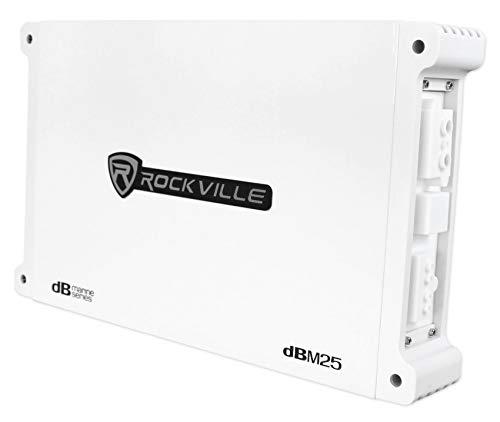 (Rockville DBM25 1400 Watt 2 Channel Marine/Boat Amplifier Amp w/Silicone Covers)