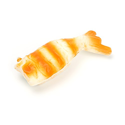 Sylvia QE The Newst Slow Rising Squishes Jumbo Toys for Both Kids and Adults (3 Pcs Sushi Shrimp)