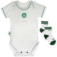 Rêve D'or Sport - Kit Body Vivos e Meia Palmeiras Unissex, G, Branco/Verde