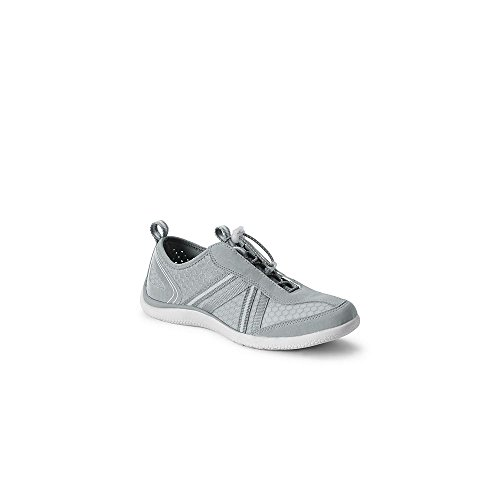 Lands' End Women's Wide Water Shoes, 11, Silver Frost