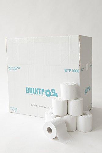 1 Pallet (25 Cases) BulkTP Brand 1000 Sheet 1-Ply Toilet Paper 96/case Wholesale Lot by BulkTP