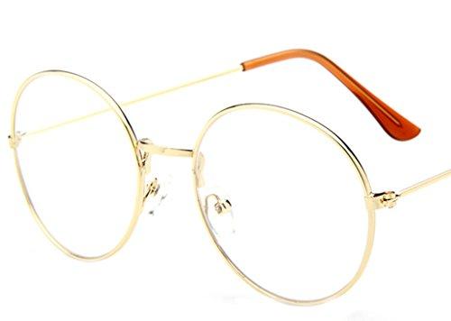 71ea25b688c La vogue Brille Nerdbrille Retro Rund Unisex Gold Linsebreite52mm:  Amazon.de: Bekleidung