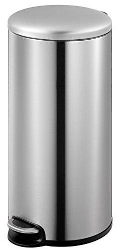 EKO Utility Serene Pedal Bin, 30 Litre, Brushed Stainless Steel