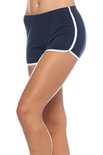 Urban Look Women's Dolphin Running Workout Shorts Yoga Sport Fitness Short Pant (Medium, Navy)