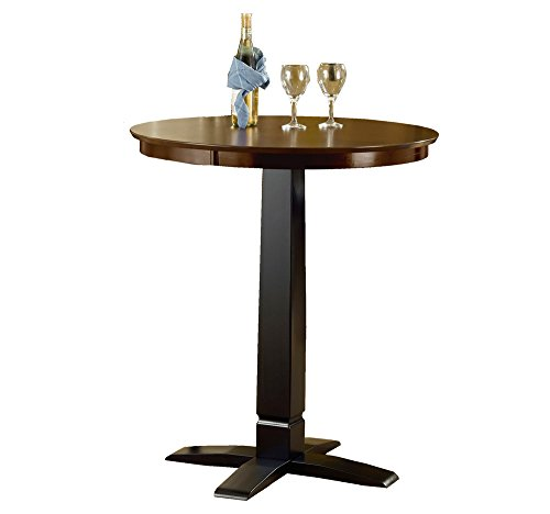 Hillsdale Dynamic Designs Pub Table - Brown Cherry/Black Dynamic Designs Brown Cherry