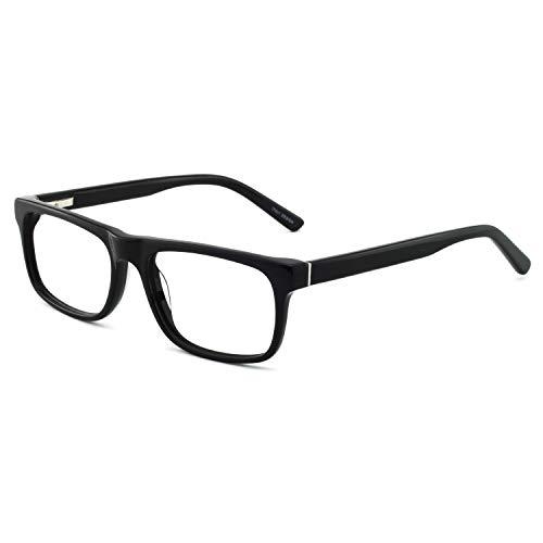 Men Anti-Blue Light Fashion Reader Black Rectangular Reading Glasses MELE 3.0 ()