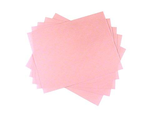 5 Sheet Bundle 3 Micron (8,000 Grit) PSA Lapping Microfinishing Film Aluminum Oxide (OA) 8 1/2