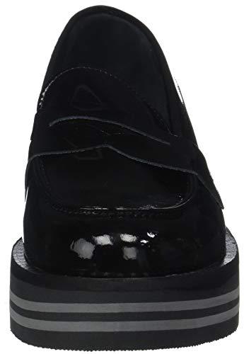 Tommy 990 Mocassins Modern Hilfiger Noir Flatform Femme Loafer Black w1TwnZrHq