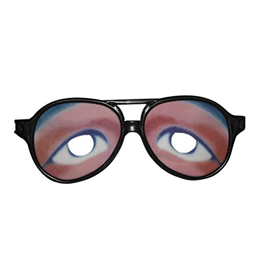 (Baywell Halloween Crazy Eyes Funny Party Dress Photo Joke Glasses)