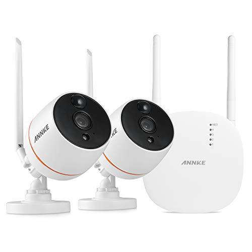 ANNKE Wireless IP Camera, 1080P 2 Pack Security WiFi Cameras, Plug and  Play, PIR Motion Detection, Two-Way Audio, IP66 Weatherproof Indoor/Outdoor