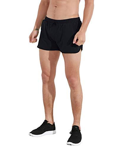 V-notch Shorts Running Mens Clothing - ChinFun Men's 3