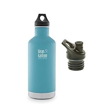 c21273136c Klean Kanteen Classic Insulated Bottle Bundle with 2 Caps (Quiet Storm, 32  OZ) by Klean Kanteen: Amazon.co.uk: Sports & Outdoors