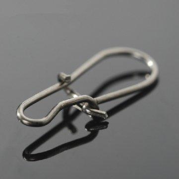 Tackle clip connecteur Ligne le Pcs solide connecteur Lure Qualité du Haute Anneaux Fixez broches 50 qB1xAzw6