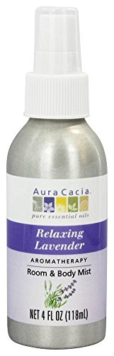 Aura Cacia - Aromatherapy Mist For Room and Body Lavender - 4 fl. (4 Ounce Aromatherapy Mist)