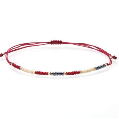 (Women Bracelet/Charm/Bohemian/Bracelets Female Hollywood Beads Handmade Constellation Stone Bracelet Couple Boho Jewelry)