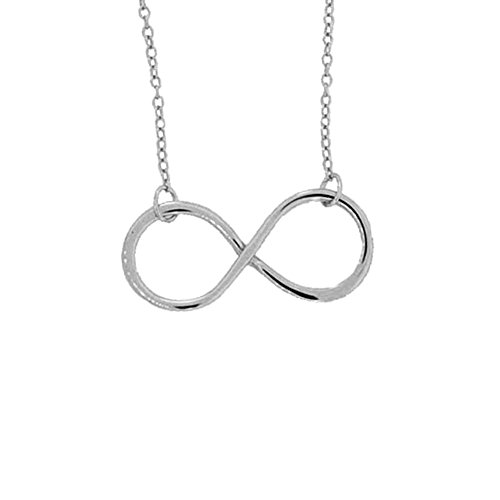 - apop nyc Sterling Silver Infinity Necklace 16 inch - 17 inch - 1 inch Charm