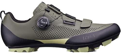 Fizik Men's Terra X5 Mountain Bike Shoes - Military Green/Tangy Green (Military Green/Tangy Green - 42)