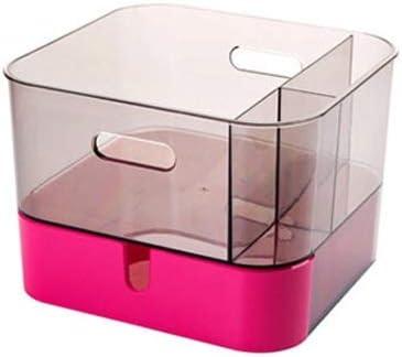 UANDM Caja de almacenamiento de escritorio transparente Soporte ...