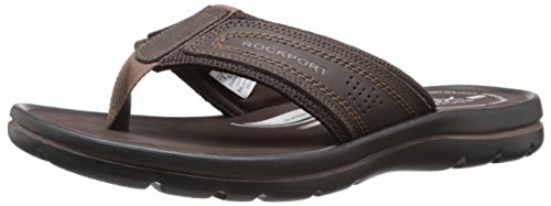 Rockport Men's Get Your Kicks Sandals Thong Coffee 12 M