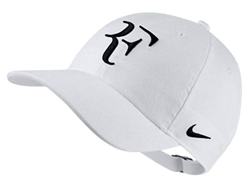 Genuine Merchandise Roger Federer Signature RF Logo Tennis Legacy Adjustable Hat Cap - White ()