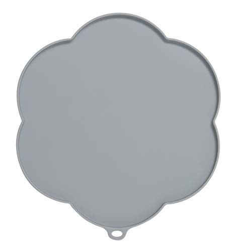 Catit 44011 Flower Shape Silicone Placemat, Gray, Medium ()