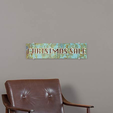 CGSignLab 24x6 Christmas Sale 5-Pack Ghost Aged Blue Premium Brushed Aluminum Sign