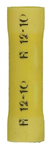 1000 Yellow 12-10 AWG Vinyl Insulated Butt Connector by A Plus Parts Hous