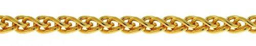 Jaune 14 carats (blé) tendre 2,1 mm JewelryWeb Bracelet chaîne
