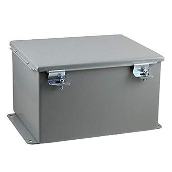 Caja de acero de 10 pulgadas de largo x 8 pulgadas de ancho ...