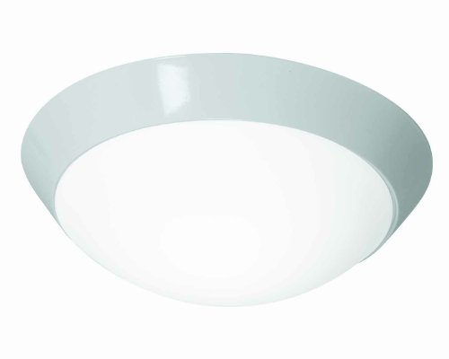 Cobalt – 2-Light 11″dia Flush Mount – Brushed Steel Finish – Opal Glass Shade