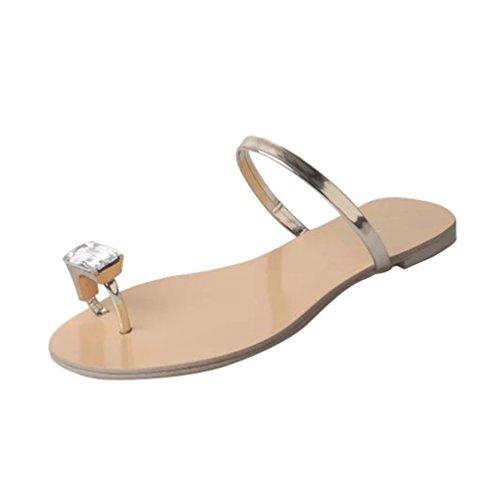 D'été Simple Beach Or Sandales Strass Dames Perle Pour Pantoufles Brillant Toe Dexinx Clip Bohème Femmes Style CP0pxqwX