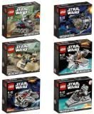 LEGO STAR WARS MicroFighters 6 pcs set 2014d (75028, 75029, 75030, 75031, 75032, 75033) by LEGO