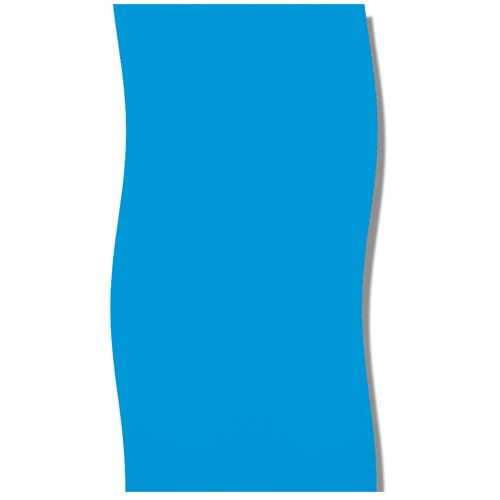 Solid Blue 2000 Round Overlap Pool Liner Size: 12' W x 48