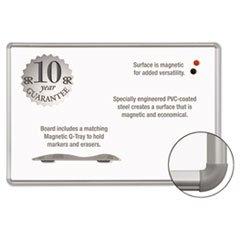 Frame Aluminum Markerboard Magnetic (BLT219PC Magnetic Markerboard, w/Marker Tray, 3x4, Aluminum Frame)