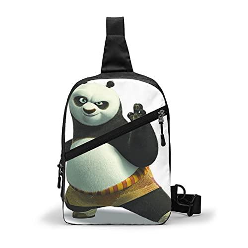 Kung Fu Panda Schoudertas voor heren, borsttas, reizen, sport, boodschappentas, rugzak