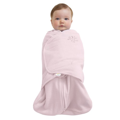 HALO SleepSack Micro-Fleece Swaddle, Soft Pink, (Halo Pink Blanket)