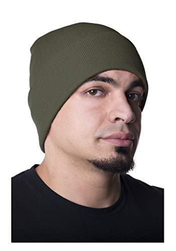 Mato & Hash 100% Fine Wool Watch Cap  Olive Drab Large/X-Large