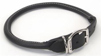 TopDawg Pet Supply C Lth Oaktan Round Collar .75''x18''-blk