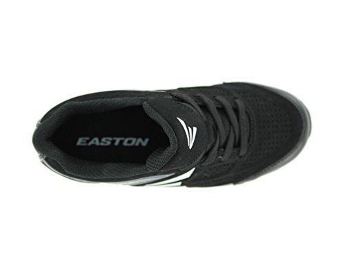 Easton 360 Youth Baseball Cleats - Black/Charcoal (4.0)
