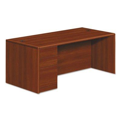 10700 Series Single Pedestal Desk, Full Left Pedestal, 72 x 36 x 29 1/2, Cognac, Sold as 1 Each by Generic