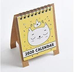 Tischkalender Kalendarien 2020 nette Karikatur-Tiere Serie Kalender Mini-Tischtischkalender Büroarbeit Lernplan Periodic Planer Stationery (Color : 4)