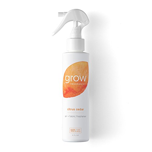 Grow Fragrance - Certified 100% Plant Based Air Freshener + Fabric Freshener Spray, Made With All Natural Essential Oils, Citrus Cedar Scent, 5 oz. - Natural Fabric Freshener