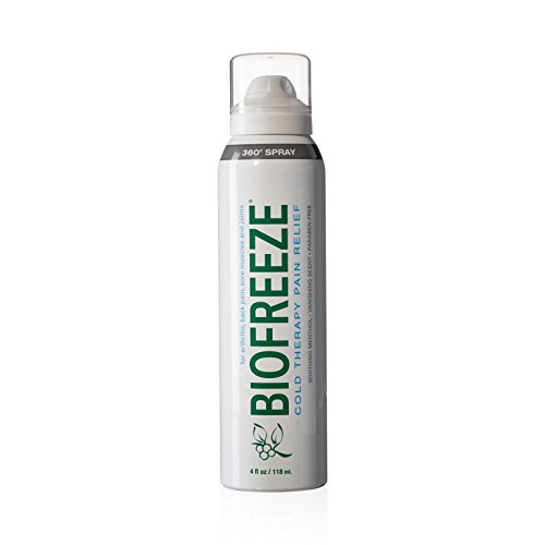Oil Burn First Aid (Biofreeze Pain Relief 360 Spray for Muscle Pain, 4 oz. Topical Analgesic with Colorless Formula, Cooling Pain Reliever Great for Joint Pain, Soreness, & Arthritis, Works Like Ice Pack, 10.5% Menthol)