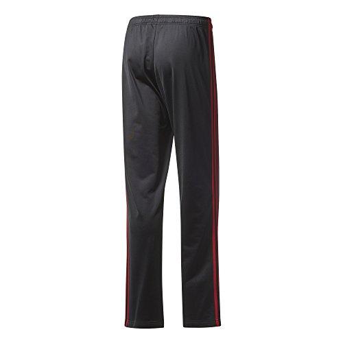 adidas Men's Athletics Essential Tricot 3-Stripe Pants, Black/Scarlet, Small by adidas (Image #3)