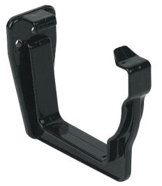 BLACK PACK OF 3 X Polypipe OGEE ROG09 Extra Capacity Gutter Fascia Bracket 130 x 70mm