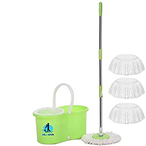 ALLWIN Mop Floor Cleaner with Bucket Set Offer with Big Wheels for Best 360 Degree Easy Magic Cleaning, with 4…