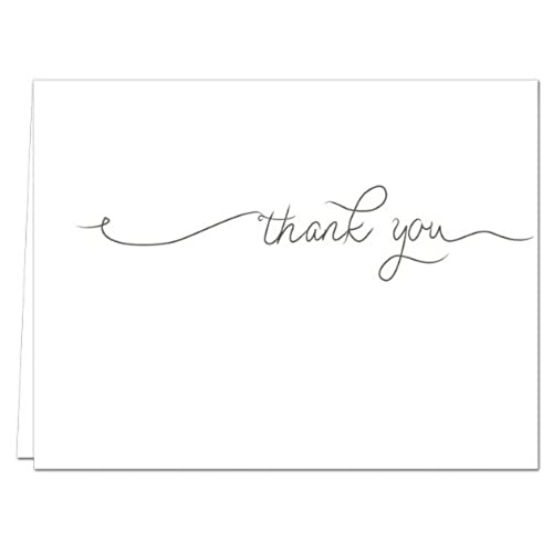 Thank you cards business amazon simple thank you blank cards 36 count gray envelopes included reheart