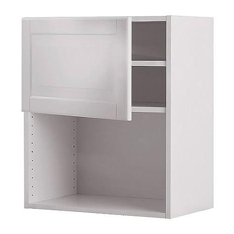 IKEA FAKTUM - Mueble de pared para horno de microondas, Lidingö blanquecino: Amazon.es: Hogar