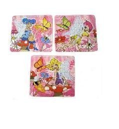 Ideal Toy loot//Party Bag Stocking Filler 6 Princess Mini Jigsaw Puzzles