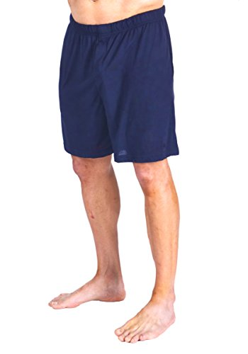 Cool-jams Men's Wicking Sleep Boxer Short (Large, Navy) by Cool-jams